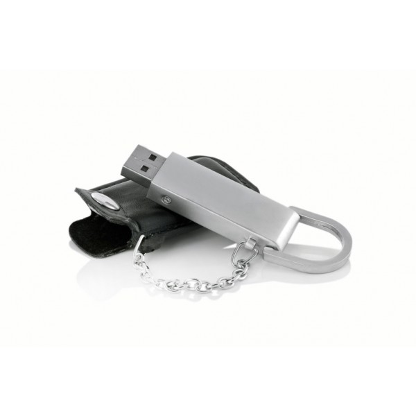 Deri Kılıflı Metal USB Bellek 05